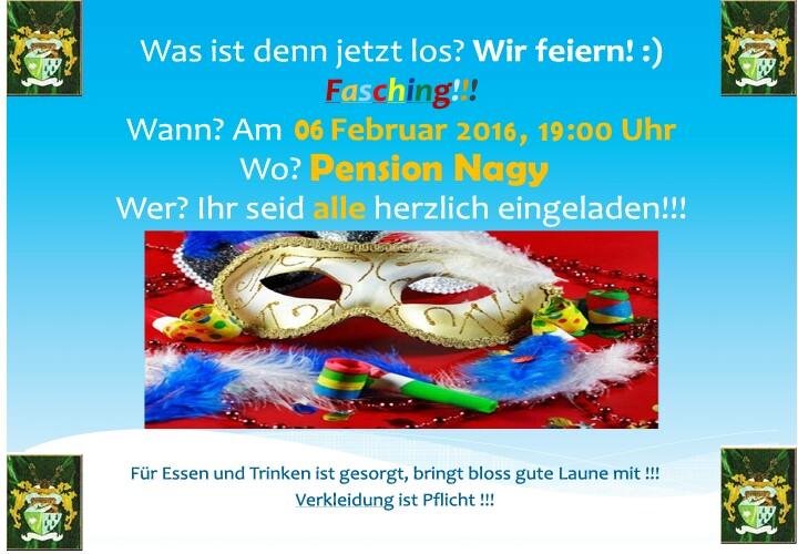 fasching | demokratisches forum der deutschen in oberwischau, Einladung